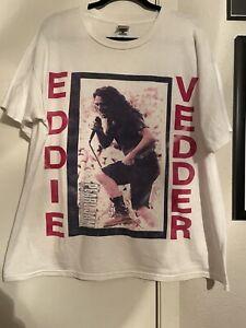 Vintage Pearl Jam Eddie Vedder T Shirt Rare 90's Size XL