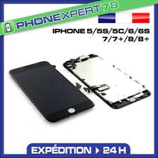 ECRAN LCD BLOC COMPLET VITRE TACTILE SUR CHASSIS IPHONE 5 5S 5C 6 6S 7 8 PLUS