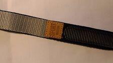 BRACELET  DE MONTRE  scratch  / tissu sport  NOIR/GRIS   20mm réf./US110