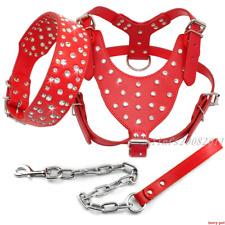 Bling Rhinestone Dog Harness&Collar&Leash Set Adjustable Large Breeds Rottweiler