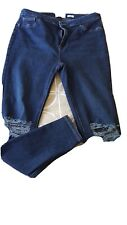 Ladies New Look Hallie Ripped Jeans Size 16, 32 leg