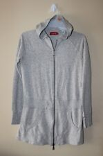 LC WAIKIKI Women's Athletic Zip Up Hooded Sweater Size S Gray Long Side Pockets