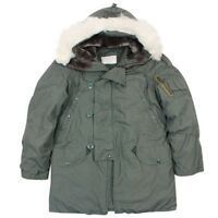 Genuine US Military Issue N3B Parka, Nylon Cotton, Size L, Synthetic Fur Hood