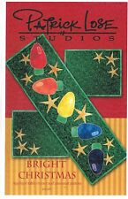 Bright Christmas Table Runner & Place Mat Quilt Pattern, Fusible Applique