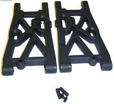 81056 Negro Plástico Rc Rear Lower Arms Suspensión - 1/8 Hsp Tornado