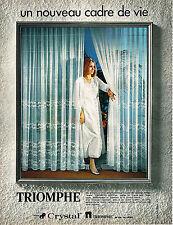 PUBLICITE ADVERTISING  1971   TRIOMPHE  rideaux voilages