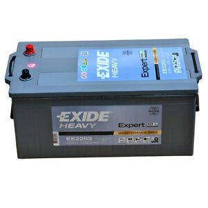 Exide Heavy EE2253 12V 225AH Starterbatterie for Trucks Busse Construction &
