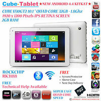 """CUBE U30GT2 32GB 10.1"""" RETINA IPS RK3188 QUAD CORE 1.8Ghz ANDROID 4.4 TABLET PC"""