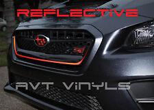 AVT -2015-2017 SUBARU WRX / STI FRONT GRILLE PINSTRIPE REFLECTIVE RED