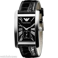 emporio armani men s rectangle wristwatches new emporio armani ar0143 mens watch 2 year warranty