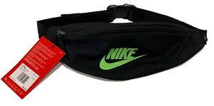Nike Heritage Hip 183 CU IN Fanny Pack - Black w/Lime - BA5750-019 Sport Running