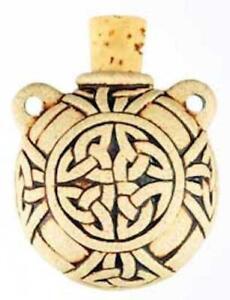 Raku Celtic Knot Oil Jar and Pendant!