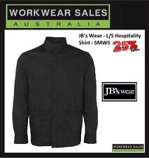JB's Wear Mens Hospitality Work Shirt Size Largre Black Sale Item