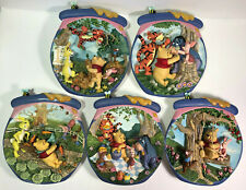 "3D Bradford Exchange Winnie The Pooh Plates ""Poohs Hunnypot Adventures"" Set Of 5"