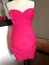 NWOT Bcbg Max Pink Party Cocktail Strapless Dress Size 0 Strapless Straps Incl