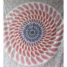 Colcha plumas rosa 230x210cm India manta algodón manta decoración