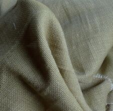 Basket Weave 100% Linen Fabric Heavy Weight Dark Olive By the Yard