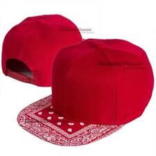 Baseball Cap Bandana Snapback Adjustable Hat Hip Hop Solid Flat Visor Blank Mens