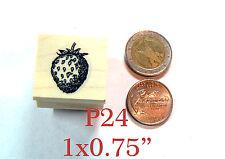 P24 Strawberry miniature rubber stamp