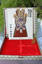 Chinese Peking Opera 京剧 Face Masks postal stamp ¥70, hand painted on porcelain