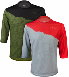 Aero Tech Freestyle Downhill Jersey - Camber Topo  3/4 Sleeve Jersey Made in USA