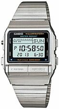 CASIO VINTAGE DB-380-1D SILVER STAINLESS WATCH FOR MEN AND WOMEN - COD+FREE SHIP