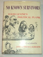 1ST ED NO KNOWN SURVIVORS: David Levine's Political Plank w/ ORIG SIGNED DRAWING