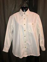 LEE DENIM COLLECTION White Long Sleeve Shirt Women's Size MEDIUM