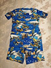 The Childrens Place  Boys 2 Pc Snug Fit Pajama Set NWT Shirt Shorts Size 8 Ocean