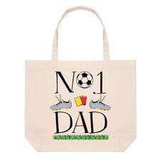 No.1 Papá Fútbol Lino Grande Bolso Playa Bolsas - Funny Padre Día Soccer Sport