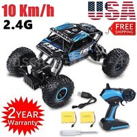 RC Car 4WD 2.4G 1/18 Off Road Vehicle Monster Rock Truck Crawlers Kids Gifts CCC
