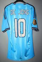 AJAX AMSTERDAM 2011/2012 ADIDAS AWAY FOOTBALL #10 DE JONG SHIRT JERSEY Sz S