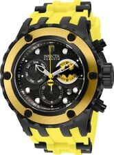 Invicta Mens Specialty DC Comics BATMAN 52MM Ltd Edi Silicone Yellow Strap Watch