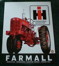 International Harvester Farmall Advertising Tin Sign
