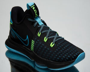 Nike LeBron Witness V Men's Black Blue Athletic Basketball Sneakers Shoes