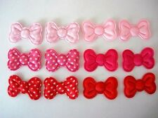 "60 Satin Polka Dot 1.25"" Big Bow Applique/Trim/Craft/Sewin g/pink/red/girl H267"