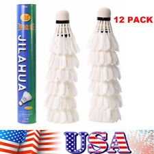 12X Goose Feather Shuttlecocks Badminton Ball Indoor Outdoor Sports Training US
