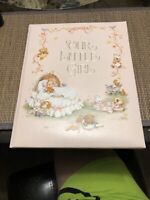 Hallmark Our Little Girl Vintage Baby Album Keepsake Book New Open Box