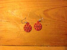Basketball earrings  dangle/ silver plated