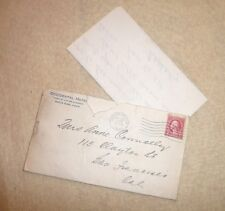 STATIONERY ENVELOPE LETTER OCCIDENTAL HOTEL HOME OF LUTHER BURBANK SANTA ROSA CA