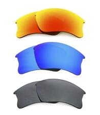 NEW POLARIZED FIRE / BLUE / BLACK CUSTOM LENS FOR OAKLEY FLAK JACKET XLJ