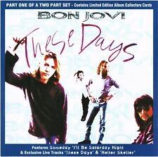 BON JOVI ~ These Days [cd1] (cd single+ Limited Edition Collectors Cards, 1996)