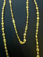 """Vintage Handmade Dubai Chain Necklace In Solid Certified 22Carat Yellow Gold 25"""""""