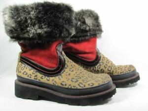 Ariat Winter Fatbaby Fur Cuff Cowboy Boot Women size 9.5 Leopard