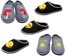 Kinder Pantoffeln Puschen Hausschuhe Filzpantoffeln Filzsohle Emoji Gr. 30-36