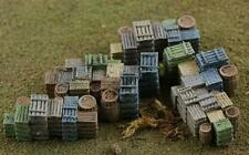 FRUIT CRATES and Barrel STACKS, 4 Stacks of fruit crates Finished N Scale