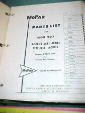 1957 1958 Dodge K / L Series Truck Illustrated Mopar Parts Catalog All Original