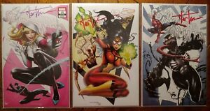 Amazing Spider-Man #15 3-set Covers A B C Tyler Kirkham SIGNED with COA's!! NM+