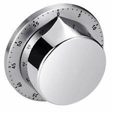 Wind Up Kitchen Countdown Timer Loud Alarm Stainless Steel Body Manual