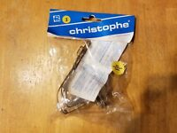 Christophe France Road Bike Pedal Toe Clips - Small - NOS - Chrome - Steel